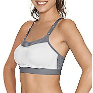 Womens Champion The Show-Off Sports Bra - White/Grey XL