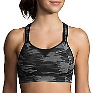Womens Brooks Rebound Racer Sports Bra - Black Ikat Jacquard 36D