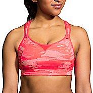Womens Brooks Rebound Racer Sports Bra - Race Pink Ikat 38D