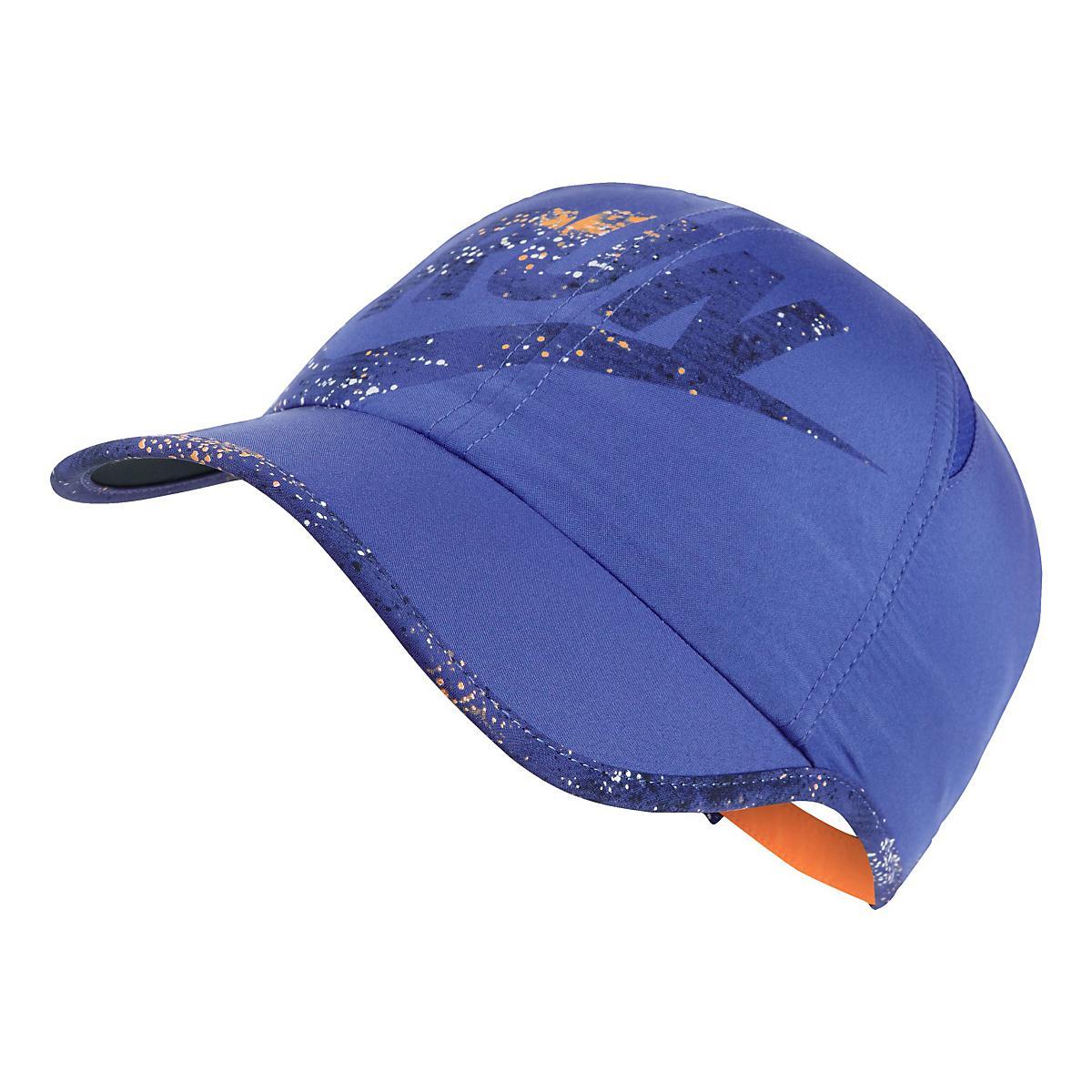 297c8fa3d58 Womens Nike Run Swoosh Printed Featherlight Cap Headwear at Road Runner  Sports