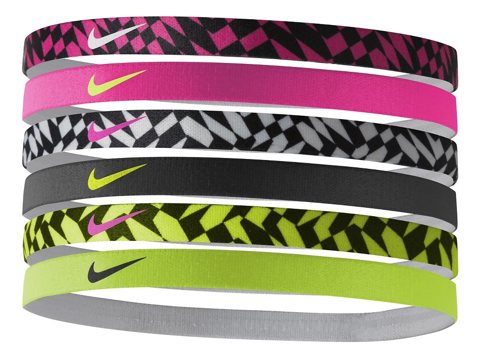 Womens Nike Printed Headbands 6 pack Headwear at Road Runner Sports 64b120dbf98