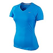 Womens Nike Speed Short Sleeve Technical Tops - Brilliant Blue S