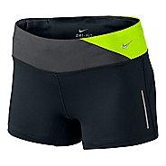 Womens Nike Epic Run Boy Fitted Shorts - Black/Electra XL