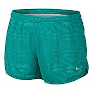Womens Nike Burnout Lined Shorts - Sea Green XL