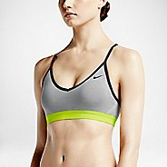 Womens Nike Pro Indy Sports Bra - Heather Grey XL
