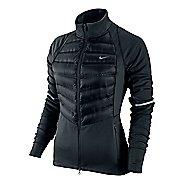 Womens Nike Aeroloft Hybrid Running Jackets - Black XL