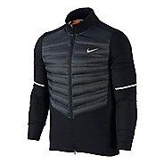 Mens Nike Aeroloft Hybrid Running Jackets - Black L