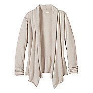 Womens prAna Georgia Wrap Long Sleeve Non-Technical Tops - White L