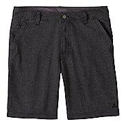Mens prAna Furrow Unlined Shorts - Black Herringbone 32