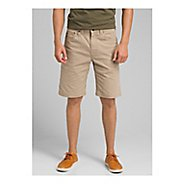 Mens prAna Bronson Unlined Shorts - Dark Khaki 36