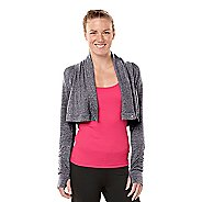 Womens ROAD RUNNER SPORTS Going Places Cardi Long Sleeve Non-Technical Tops - Heather Charcoal XL