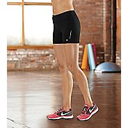 """Womens Road Runner Sports Speed Pro Compression 3.5"""" Fitted Shorts - Black S"""