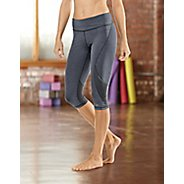 """Womens Road Runner Sports SpeedPro Compression 17"""" Knicker Fitted Tights - Heather Charcoal S"""