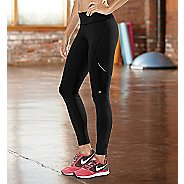 Womens Road Runner Sports SpeedPro Compression Fitted Tights - Black XS