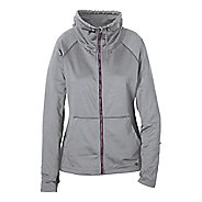 Womens R-Gear Pure-n-Simple Running Jackets - Dove Grey/Mulberry M