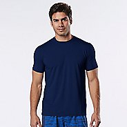 Mens Road Runner Sports All Day Crew Short Sleeve Technical Tops - Midnight Blue L