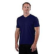 Mens Road Runner Sports All Day V-Neck Short Sleeve Technical Tops - Midnight Blue XL