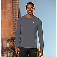 Mens R-Gear Runner's High Long Sleeve No Zip Technical Top - Steel XL