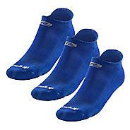 R-Gear Drymax Dry-As-A-Bone Thin Cushion No Show 3 pack Socks - Royal M