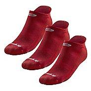 R-Gear Drymax Dry-As-A-Bone Thin Cushion No Show 3 pack Socks - Red L