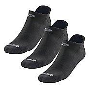 R-Gear Drymax Dry-As-A-Bone Thin Cushion No Show 3 pack Socks - Black M