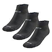 Road Runner Sports Drymax Dry-As-A-Bone Thin Cushion Low 3 pack Socks - Black M