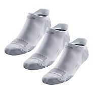 Road Runner Sports Drymax Dry-As-A-Bone Medium Cushion No Show Tab 3 pack Socks - White L