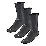 Road Runner Sports Drymax Dry-As-A-Bone Thin Cushion Crew 3 pack Socks - Black L