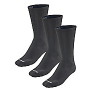 Road Runner Sports Super Breathable Medium Cushion Crew 3 pack Socks - Black M