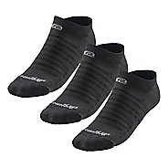 R-Gear Super Breathable Thinnest No Show 3 pack Socks - Grey M