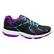 Womens Ryka Devotion Walking Shoe - Black/Detox Blue 10.5