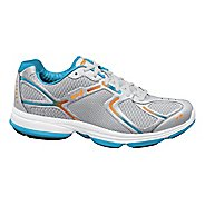 Womens Ryka Devotion Walking Shoe - Chrome Silver/Nirvana Blue 5.5