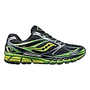 Mens Saucony Guide 8 Running Shoe - Black/Citron 8