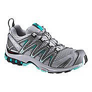 Womens Salomon XA Pro 3D Trail Running Shoe - Quarry/Blue 9