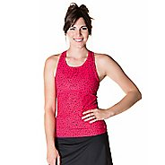 Womens Skirt Sports Wonder Girl Tank Support Tops Bras - Bubbly Print/Black XL