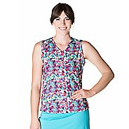 Womens Skirt Sports Free Me Sleeveless and Tank Technical Tops - Holiday Print S