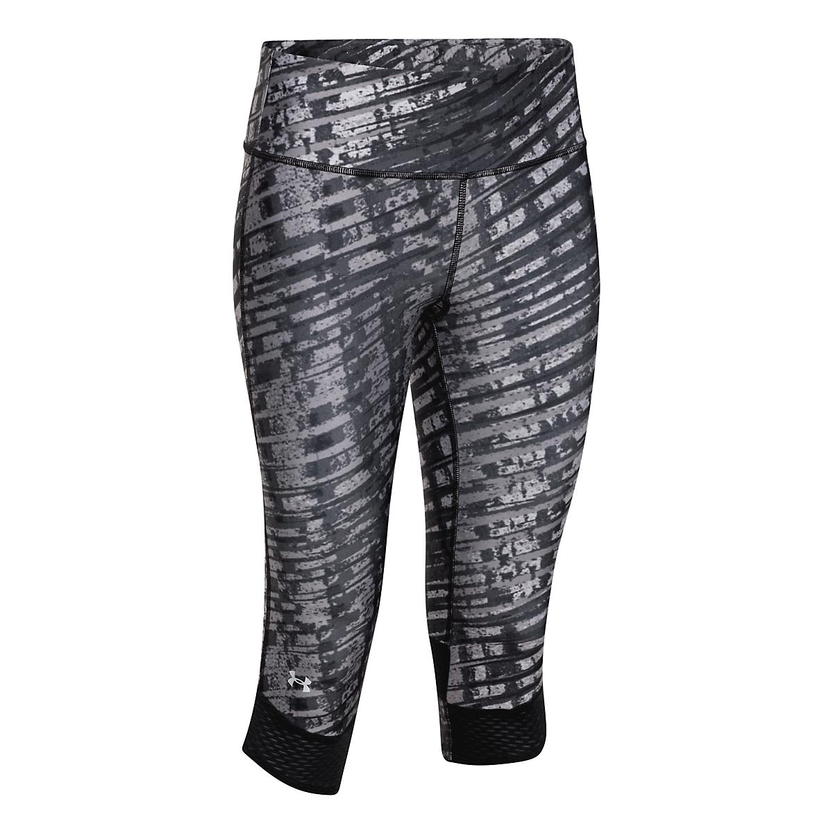 c6debdabd388cf Womens Under Armour Fly-By Printed Capri Tights at Road Runner Sports