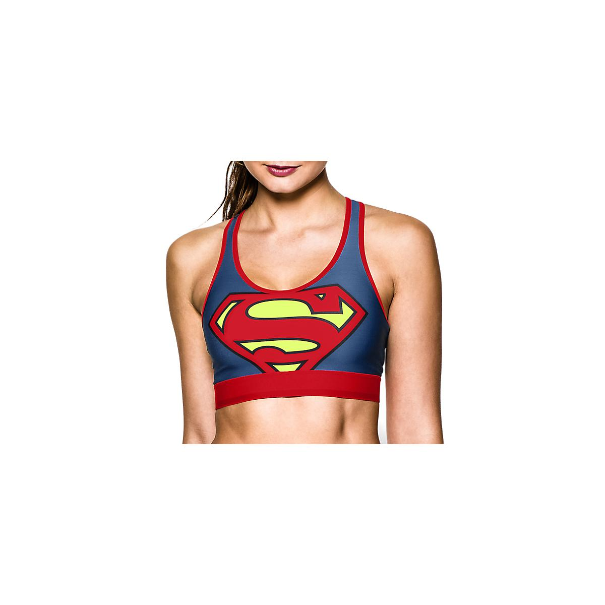 e49107f4d1971 Womens Under Armour Alter Ego Supergirl Sports Bra at Road Runner Sports