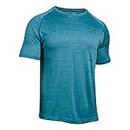 Mens Under Armour Tech Short Sleeve T Technical Tops - Bayou Blue/Graphite L