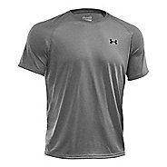 Mens Under Armour Tech Short Sleeve T Technical Tops - Stealth Grey/Green S