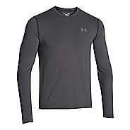 Mens Under Armour Coldgear Infrared T Long Sleeve No Zip Technical Tops - Black/Graphite M