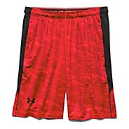 Mens Under Armour Raid Printed Unlined Shorts - Rocket Red/Black L