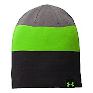 Mens Under Armour 4 In 1 Stripe Beanie Headwear - Black
